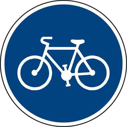 Kerékpárút (C8a) közlekedési tábla