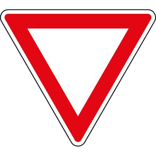 Elsőbbség adás kötelező (P4) közlekedési tábla