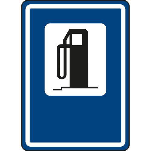 Üzemanyagtöltő állomás (IJ7) közlekedési tábla