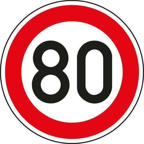 Maximális megengedett sebesség (B20a) közlekedési tábla