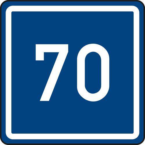 Ajánlott sebesség (IP5) közlekedési tábla