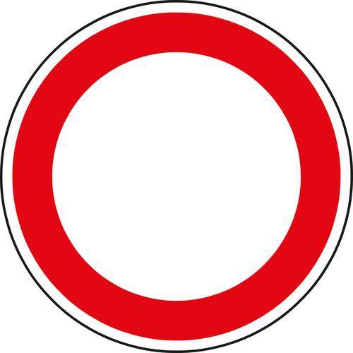 Behajtani tilos (mindkét irányból) minden járműnek (B1) közlekedési tábla