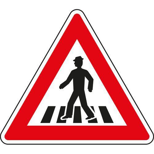 Vigyázat, gyalogos átkelőhely (A11) közlekedési tábla