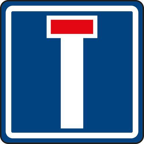 Zsákutca (IP10a) közlekedési tábla