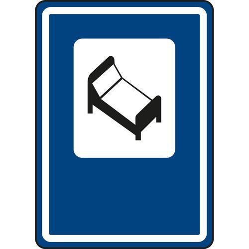 Szálloda vagy motel (IJ10) közlekedési tábla