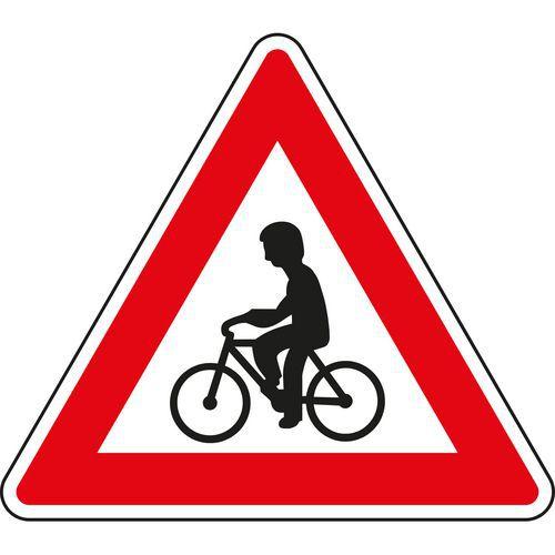 Kerékpárosok (A19) közlekedési tábla