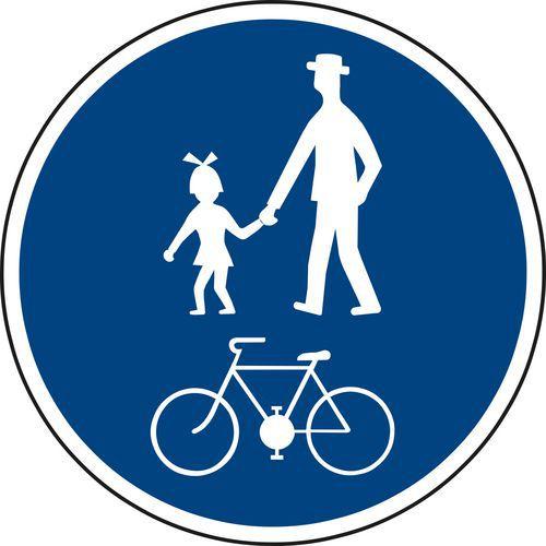 Gyalog- és kerékpárút (C9a) közlekedési tábla