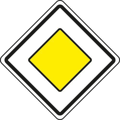 Főút (P2) közlekedési tábla