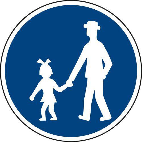 Gyalogút (C7a) közlekedési tábla