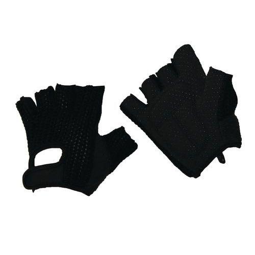 Manutan pamut kesztyű pöttyökkel, fekete