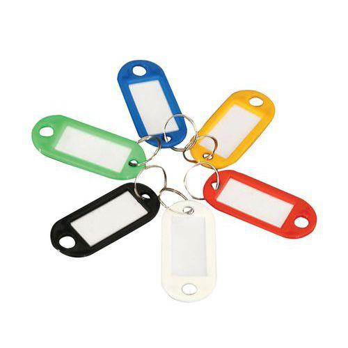 Manutan karikás kulcstartók, 100 db, vegyes színben