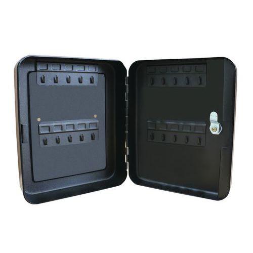 Manutan Eco Key kulcsszekrény, 20 akasztó, fekete