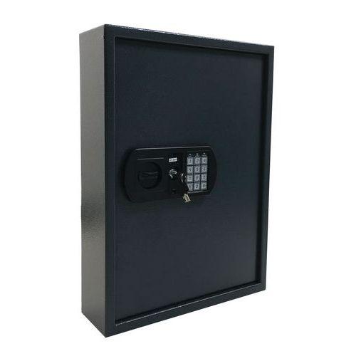Manutan kulcsszekrény elektronikus zárral, 100 akasztóval