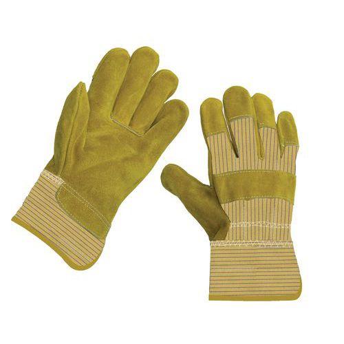 Manutan bőr kesztyű, sárga