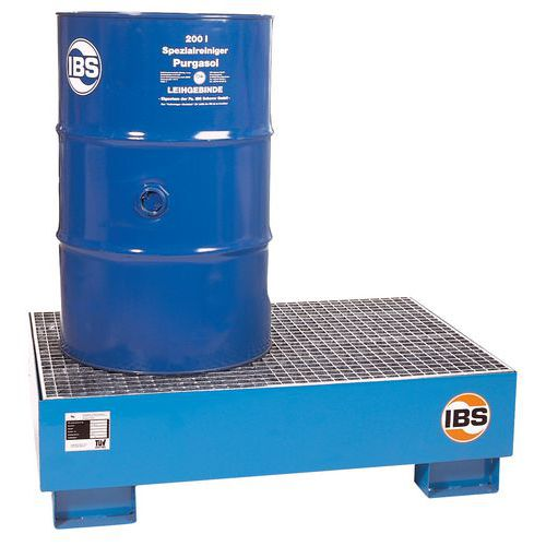 IBS H10 acél felfogókád ráccsal, 2 hordóhoz