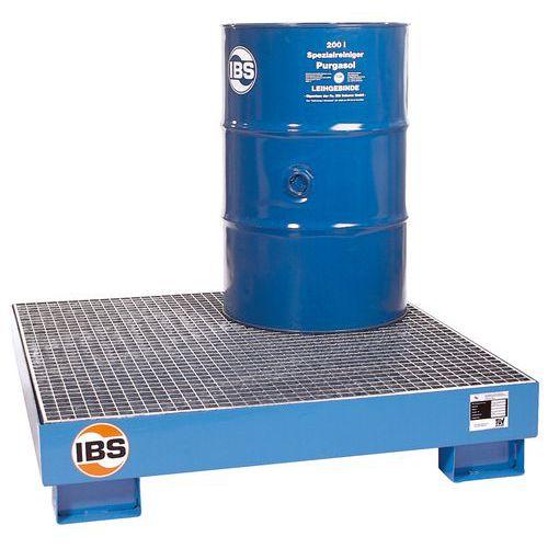 IBS H20 acél felfogókád ráccsal, 4 hordóhoz