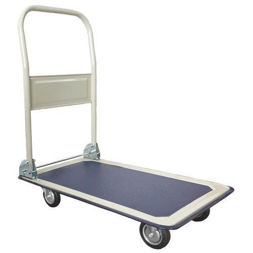 Manutan platós kocsi lehajtható fogantyúval, 150 kg-ig