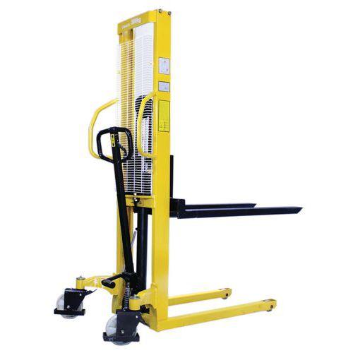 Kézi emelőtargonca, 500 kg-ig, emelési magasság 1560 mm