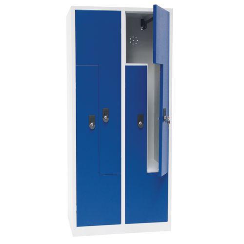 Manutan Carl hegesztett öltözőszekrények, Z ajtó, 4 részes, hengerzár