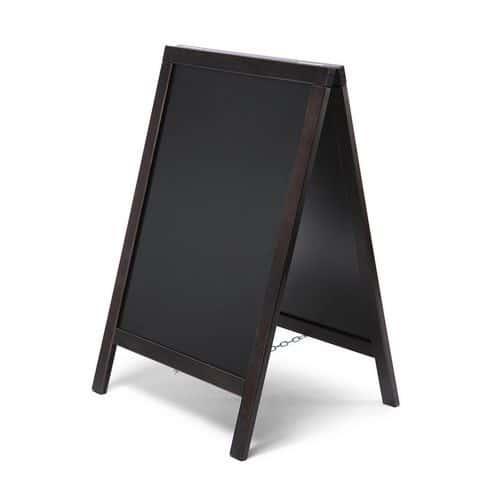 A alakú krétás reklámtábla, fekete