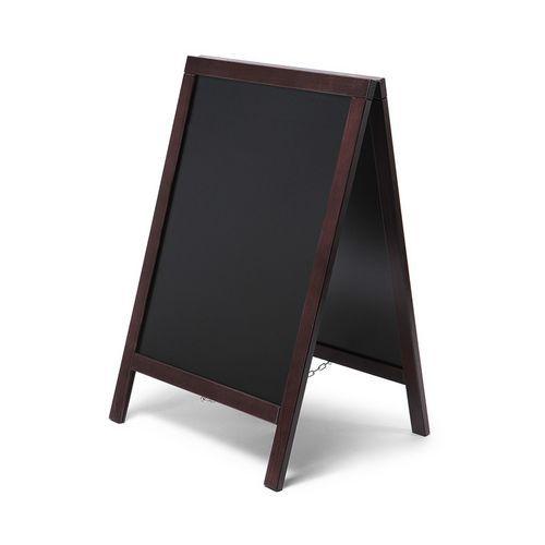 A alakú krétás reklámtábla, sötétbarna