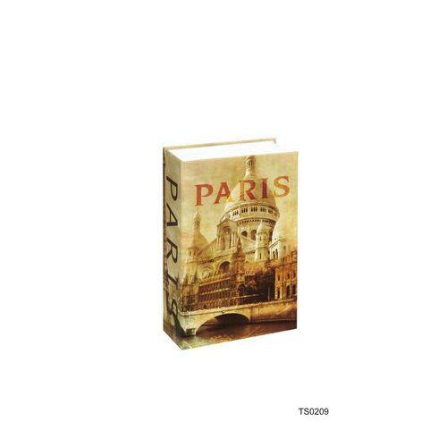 Paris könyv alakú fém biztonsági miniszéf