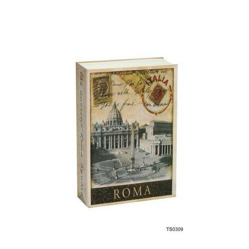 Roma könyv alakú fém biztonsági miniszéf