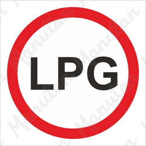 Tiltó táblák - LPG