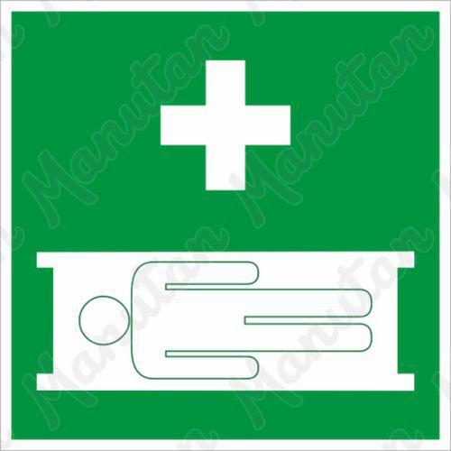 Biztonsági táblák - Egészségügyi hordágy