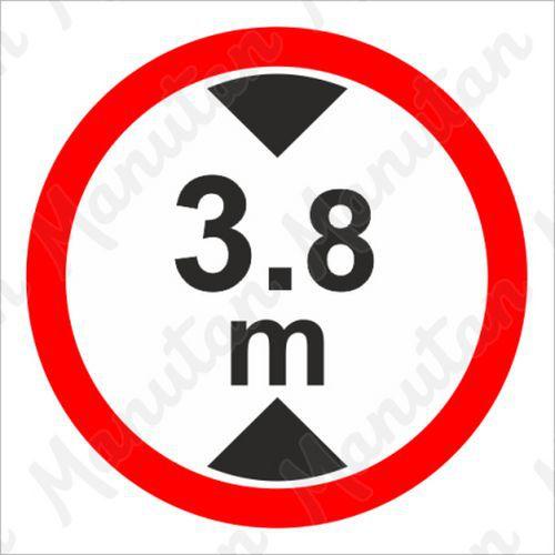Tiltó táblák - Maximális járműmagasság