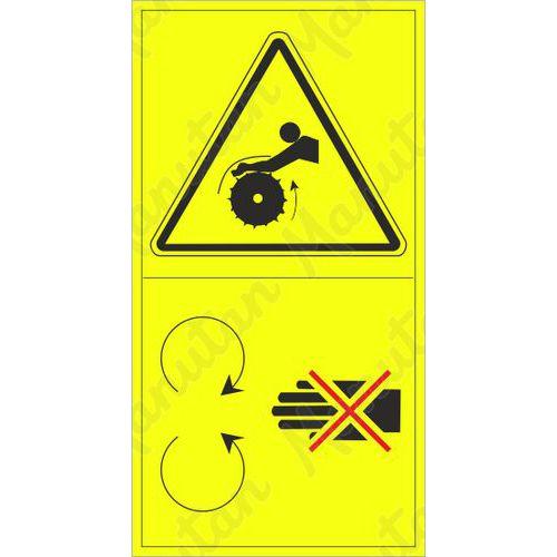 Figyelmeztető tábla - Behúzás veszélye