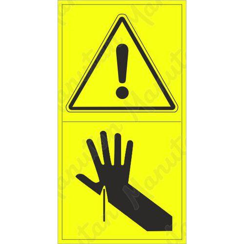 Figyelmeztető táblák - A kéz átszúrásának veszélye