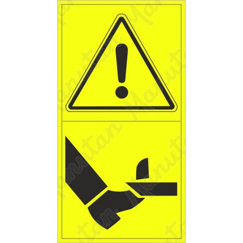 Figyelmeztető táblák - A lábfej elölről történő levágásának veszélye