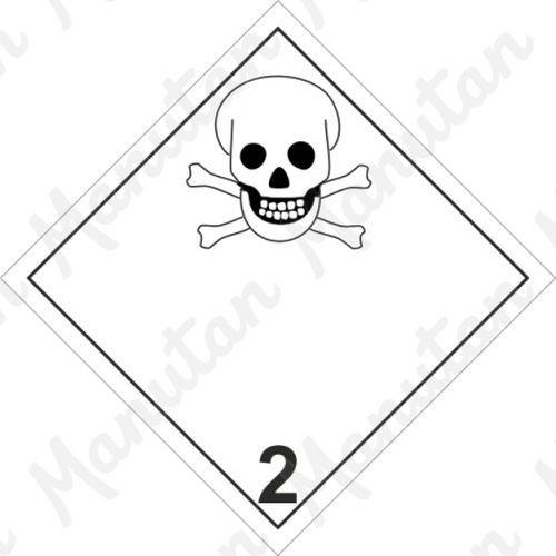 ADR figyelmeztető táblák - Mérgező gázok 2.3 sz.