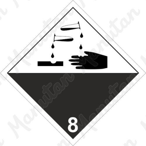 ADR figyelmeztető tábla - Maróanyag 8 sz.