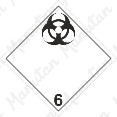 ADR figyelmeztető táblák - Fertőző anyag, biológiai veszély 6.2A sz.