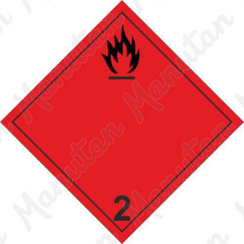 ADR figyelmeztető táblák - Tűzveszély, gyúlékony gázok 2A sz.