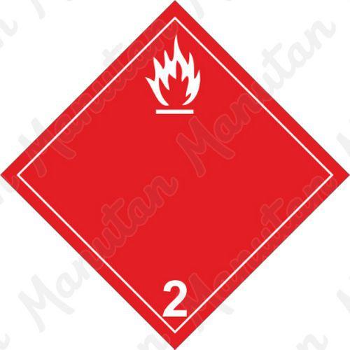 ADR figyelmeztető táblák - Tűzveszély, gyúlékony gázok 2B sz.