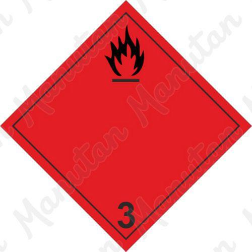 ADR figyelmeztető táblák - Tűzveszély, gyúlékony folyadékok 3A sz.