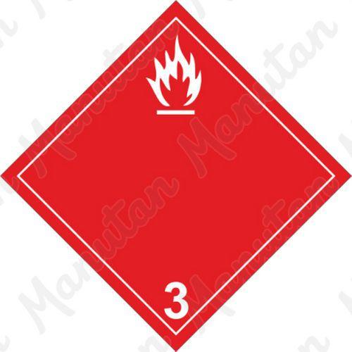 ADR figyelmeztető táblák - Tűzveszély, gyúlékony folyadékok 3B sz.