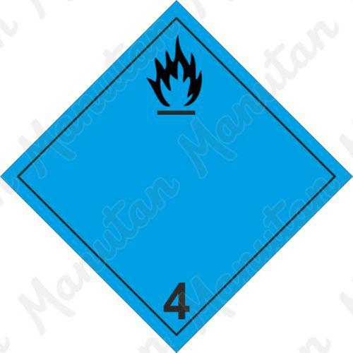 ADR figyelmeztető táblák - Gyúlékony gázképződés veszélye vízzel érintkezve 4.3 A
