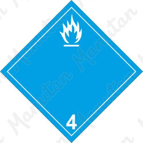 ADR figyelmeztető táblák - Gyúlékony gázképződés veszélye vízzel érintkezve 4.3 B
