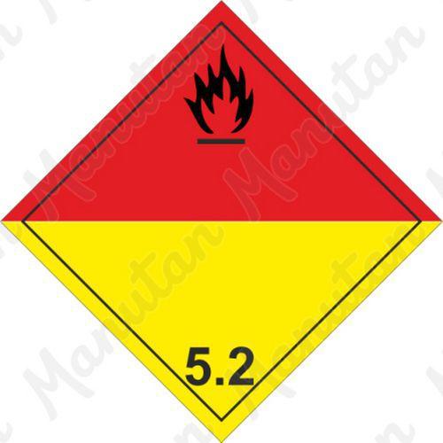ADR figyelmeztető táblák - Szerves peroxidok 5.2 sz.