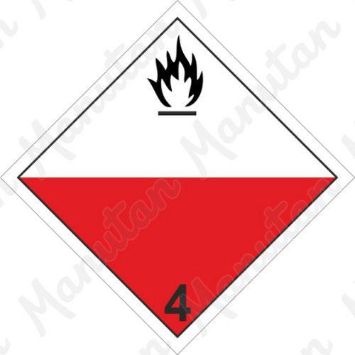 ADR figyelmeztető táblák - Öngyulladó anyagok 4.2 sz.