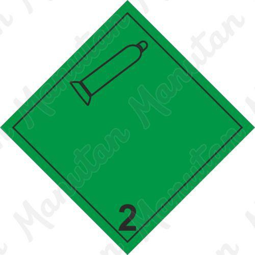 ADR figyelmeztető táblák - Nem éghető, nem mérgező gáz 2.2 A
