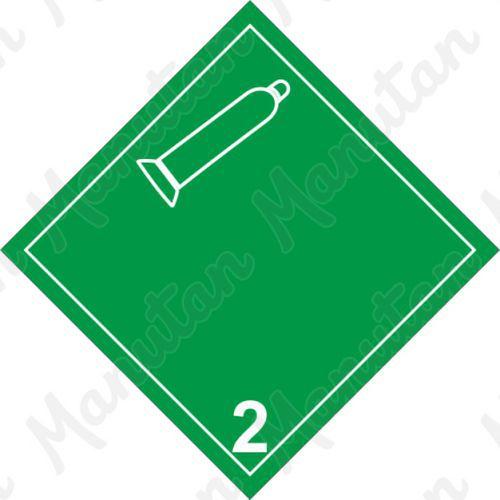 ADR figyelmeztető táblák - Nem éghető, nem mérgező gáz 2.2 B
