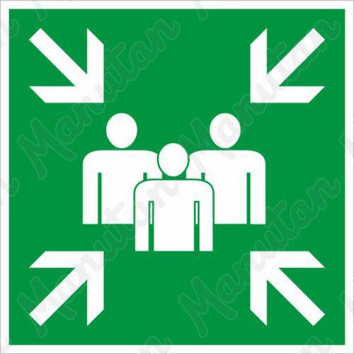 Biztonsági táblák, fotolumineszcens - Gyülekezőhely