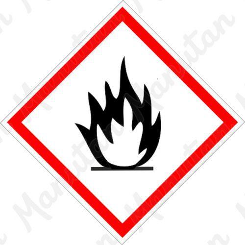 GHS figyelmeztető táblák - Gyúlékony 02