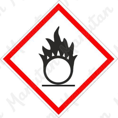 GHS figyelmeztető táblák - Oxidáló 03