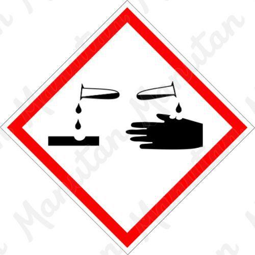 GHS figyelmeztető táblák - Korrozív 05